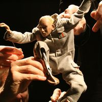 <em>Low Life</em> (2005) by Blind Summit (London, UK). Tabletop puppetry. Photo courtesy of Mark Down