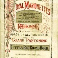Le programme pour Little <em>Red Riding Hood</em> (1872), une produ<em>c</em>tion de Bullo<em>c</em>k's Royal Marionettes. Colle<em>c</em>tion : The National Puppetry Ar<em>c</em>hive. Photo réproduite avec l'aimable autorisation de The British Puppet and Model Theatre Guild