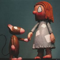 <em>Cinderella</em> and Fred, from <em>Cinderella</em> (1968) by Dick Myers (1921-2005). Collection: Ballard Institute and Museum of Puppetry. Photo: Sarah Nolen