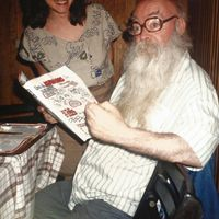 Paco Porras, popular puppeteer of Madrid in the early 1990s