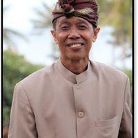 I Wayan Wija (1952- ) from Banjar Babakan, Sukawati, Gianyar Regency, Bali, innovative <em>dalang</em> of Balinese <em>wayang</em> parwa. Photo courtesy of UNIMA-Indonesia