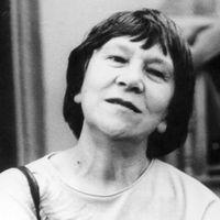 Irina Jarovtseva (1932-2003), critique de théâtre russe, traductrice et militante de l'UNIMA (1996). Photo réproduite avec l'aimable autorisation de Archive : Rossiyskiy tsentr UNIMA (Centre UNIMA Russie, Moscou, Russie)