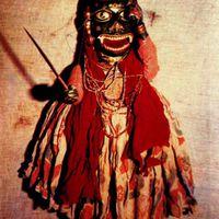 Un rakshasa (démon), une marionnette interprétée dans le style de <em>kalasutri bahulya</em>, marionnettes à fils traditionnelles de <em>Maharashtra</em>, en Inde. Photo réproduite avec l'aimable autorisation de Sampa Ghosh