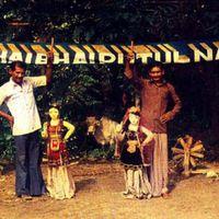 A putul na<em>c</em>h troupe with large string puppets, Tripura, India. Photo courtesy of Sampa Ghosh