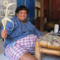 Slamet Gundono (1966-2014), Indonesian <em>dalang</em>/performance artist of Central Java, best known for his<em>wayang</em> suket(rice-straw puppetry) performances (2007). Photo: Karen Smith