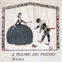 The 1910 logo for Teatro dei Piccoli designed by Bruno Angoletta. Photo courtesy of Collezione Maria Signorelli