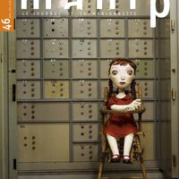 "Manip, ""Le Journal de la Marionnette"" (cubierta del número 46, Abril-Junio 2016), una publicación de THEMAA, Association nationale des Théâtres de Marionettes et des Arts Associés. Fotografía cortesía de THEMAA"