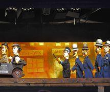 Cha cha cha (Ja ha ha, 2015) par Divadlo Alfa (Plzeň, République tchèque), mise en scène : Tomáš Dvořák, scénographie : Ivan Nesveda. Photo réproduite avec l'aimable autorisation de Archive of Divadlo Alfa. Photo: Josef Ptáček