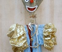 Renja or Ghendja, an Algerian glove puppet <em>c</em>onsidered a talisman to bring about rain and fertility to women. Photo: Sid Ahmed Meddah