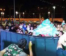A puppet show for <em>c</em>hildren and the family by the puppet theatre group, Coopérative Masrah Arous Wahran (<em>Or</em>an [Arabi<em>c</em>: <em>Wahrān</em>], Algeria). Photo: Houari Abdelkhalek