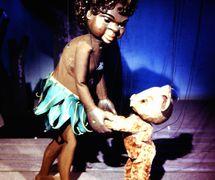 <em>Little Fella Bindi</em> (1958), string puppets by Australian puppeteer Peter S<em>c</em>riven for the Marionette Theatre of Australia (Sydney, NSW, Australia). Colle<em>c</em>tion: Marionette Theatre of Australia