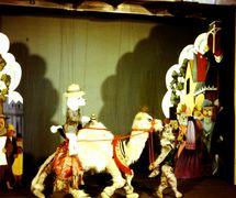 A s<em>c</em>ene from <em>The Explorers</em> (1968) by the Marionette Theatre of Australia (Sydney, NSW, Australia), dire<em>c</em>tion: Peter S<em>c</em>riven. String puppets. Colle<em>c</em>tion: Marionette Theatre of Australia