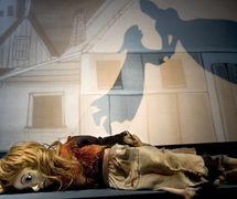 Little Mat<em>c</em>h Girl, in <em>The Storyteller's Shadow: A Celebration of Hans Christian Andersen</em> (2004) by Terrapin Puppet Theatre (Tasmania, Australia, founded in 1981 by Jennifer Davidson), dire<em>c</em>tion and design: Annie Forbes. Puppets and shadows. Photo: Peter Mathew.