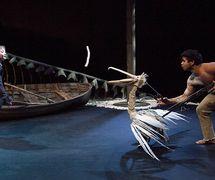 <em>Storm Boy</em> (premiere: 2013) by Sydney Theatre Company (Sydney, NSW, Australia), stage adaptation: Tom Holloway, puppet dire<em>c</em>tion: Peter J. Wilson. Photo: Brett Boardman