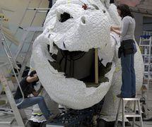 Creature Te<em>c</em>hnology Co. staff work on a dragon for How To Train Your Dragon – The Arena Spe<em>c</em>ta<em>c</em>ular (2012). Photo: Jennifer O'Keeffe