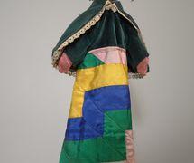Barriga Verde, marionnette à gaine faite de bois et textile, jouée par José Silvent Martínez en Galicie (Espagne) dans la période 1910-1964. Photo réproduite avec l'aimable autorisation de Collection : famille Silvent. Photo: Julio Balado López