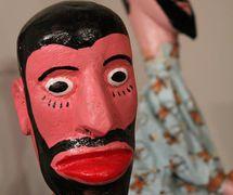 Títere de guante de la tradición <em>mamulengo</em> de Brasil, circa 1980. The Cook/Marks Collection, Northwest Puppet Center. Foto: Dmitri Carter