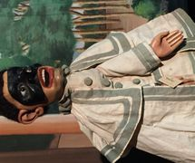 Brighella, un <em>burattino</em> (marionnette à gaine) de fin du XIXe siècle d'Emilio Zago (1852-1929, Venise, Italie). Chris and Stephen Carter Collection, Northwest Puppet Center. Photo: Dmitri Carter