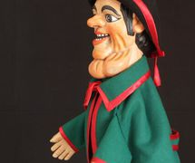 Gioppino, a <em>burattino</em> (glove puppet) in the Bergamo tradition by puppeteer Pietro Roncelli (Brembate di Sopra, Bergamo, Italy). Photo courtesy of Bruno Ghislandi