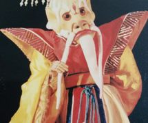 <em>Nezha</em> (哪吒, 1995) by Chengdu Muou Piying Jutuan (Centre for the Preservation of Intangible Cultural Heritage, Chengdu, Sichuan Province, People's Republic of China), direction: Yu Junhai, design and construction: Liu Ji, puppeteer: Luo Xingkang, puppet character: Dragon <em>Ki</em>ng. Rod puppet, height: 70-100 cm. Photo: Pan Yi