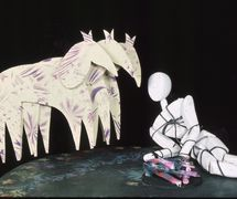 Bound Man and horses from Boundman (1988) by Jon Ludwig and Janie Geiser at the Center for Puppetry Arts (Atlanta, GA, United States). Photo courtesy of Center for Puppetry Arts