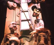 <em>Don Quixote</em> (1999) by Center for Puppetry Arts (Atlanta, GA, United States), adaptation and direction: Bobby Box, composer: Thom Jenkins, puppet, costume and set design: Patrick Martel. Photo courtesy of Center for Puppetry Arts