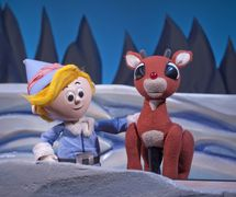 <em>Rudolph the Red-Nosed Reindeer</em> (2010) by Center for Puppetry Arts (Atlanta, GA, United States), based on the 1964 TV Special, adaptation and direction: Jon Ludwig, puppet design: Jason Hines, scenic design: Kat Conley, lighting design: Liz Lee, projections: Ted Murphy, Wes Parham and Mike Post, sound design: Gregory Montague. Photo courtesy of Center for Puppetry Arts. Photo: Clay Walker