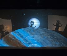 <em>Space!</em> (1995) by Center for Puppetry Arts (Atlanta, GA, United States), concept and direction: Jon Ludwig, puppet design: Chris Brown, scenic design: F. Elaine Williams, lighting design: Liz Lee, shadow puppet design: Jon Ludwig and Scott Foxx, projections design: Wes Parham and Mike Post, sound design: Brian Kettler and Gregory Montague. Photo from the 2012 production. Photo courtesy of Center for Puppetry Arts. Photo: Clay Walker