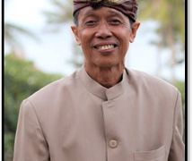El <em>dalang</em> balinés, I Wayan Wija. Fotografía cortesía de UNIMA-Indonesia