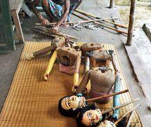 Danger putul na<em>c</em>h, les marionnettes à tiges du Bengale, au Nord de l'Inde, être fait à Ma Jai<em>c</em>handi Opera. Sour<em>c</em>e : https://www.telegraphindia.<em>c</em>om/1150703/jsp/howrah/story_29139.jsp