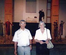 Francisco Peralta and Matilde del Amo in front of his show, El Romance de la Condesita, based on the anonymous popular poem. Photo: Nati Cuevas Zugazagoitia