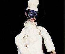 Pulcinella (c.1830), a <em>burattino</em> (glove puppet) by Italian puppeteer Gaetano Santangelo, known as Ghetanaccio (Rome, 1772-1832). Collezione Maria Signorelli. Photo: Maristella Campolunghi and Teresa Bianchi. Photo: Maristella Campolunghi et Teresa Bianchi