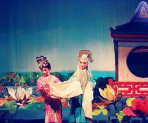 <em>The Hibiscus Fairy</em> (芙蓉仙子, 1956) by Guangdongsheng Muou Jutuan (Haizhuqu, Guangzhou, Guangdong Province, People's Republic of China), direction: Lin Kun, design/construction: Pan He, Liang Zhihui, puppeteers: Luo Chenghong, Zhang Guangyou. Rod puppets, height: 70-100 cm. Photo courtesy of Guangdongsheng Muou Jutuan