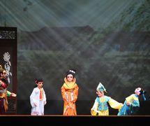 <em>Nezha</em> (哪吒, 2014) by Guangdongsheng Muou Jutuan (Haizhuqu, Guangzhou, Guangdong Province, People's Republic of China), direction: Chen Xuan, Cui Keqin, design/construction: He Weichao, Luo Fulin, Chen You, Cheng Yuan, puppeteers: Lü Jingxian, Liu Mingjuan, Ao Zhuoxian, Li Kuan, Yang Xuying, Chen Yunxian. Rod puppets, height: 70-100 cm. Photo courtesy of Guangdongsheng Muou Jutuan