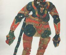 <em>Hanuman</em>, un personaje <em>c</em>entral del Râmâyana, una figura de sombra de Andhra Pradesh, India, <em>tolu bommalata</em>, altura: 1,10 m. Cole<em>c</em><em>c</em>ión: Center for Puppetry Arts (Atlanta, Georgia, Estados Unidos). Fotografía cortesía de Center for Puppetry Arts