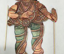 Un pequeño títere de sombra de Ganesh en el estilo del <em>tolu bommalata</em>, el teatro de sombras tradi<em>c</em>ional de Andhra Pradesh, India. Foto: Karen Smith