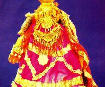 Radha, la <em>gopi</em> y el avatar de la diosa Lakshmi, la amado del Krishna, uno de los dos personajes prin<em>c</em>ipales de <em>gopalila kundhei</em>, el teatro de títeres de hilos tradi<em>c</em>ional de <em>Or</em>issa (Odisha), India. Fotografía cortesía de Sampa Ghosh