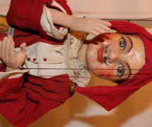 Kašpárek with a moustache. String puppet made of wood and fabric, beginning of 20th century, height: 56 cm, design: Josef Adámek. Collection: Alena Vorlová (Czech Republic). Photo: Kateřina Lešková Dolenská