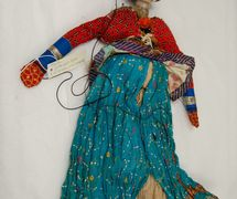 Anarkali, la bailarina, títere de hilos, <em>kathputli</em>, de Rajastán, India, altura: 60 <em>c</em>m. Cole<em>c</em><em>c</em>ión: Center for Puppetry Arts (Atlanta, Georgia, Estados Unidos). Fotografía cortesía de Center for Puppetry Arts