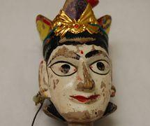 Detalle de Anarkali, la bailarina, títere de hilos, <em>kathputli</em>, de Rajastán, India, altura: 60 <em>c</em>m. Cole<em>c</em><em>c</em>ión: Center for Puppetry Arts (Atlanta, Georgia, Estados Unidos). Fotografía cortesía de Center for Puppetry Arts