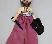 Guerrero mogol, títere de hilos, <em>kathputli</em>, de Rajastán, India, altura: 55 <em>c</em>m. Cole<em>c</em><em>c</em>ión: Center for Puppetry Arts (Atlanta, Georgia, Estados Unidos). Fotografía cortesía de Center for Puppetry Arts