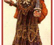 Krishna, le personnage prin<em>c</em>ipal dans le théâtre de marionnettes à fils, <em>gopalila kundhei</em>, d'<em>Or</em>issa (Odisha), en Inde. Photo réproduite avec l'aimable autorisation de Sampa Ghosh