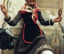 La Tía Norica, string puppet made of wood and fabric, height: 54 cm, c. 1900. Photo courtesy of Collection: Museo de Cádiz (Cádiz, Spain).