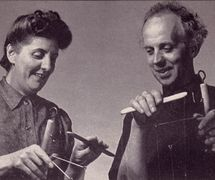 Muriel and Waldo Lanchester of The Lanchester Marionettes. Photo courtesy of Collection: The National Puppetry Archive