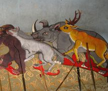 Les figures d'ombres animales pour le <em>wayang</em> kancil par Ledjar Subroto (Java central, Indonésie). Photo: Karen Smith