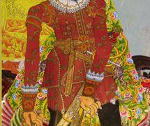 Jan Pieterszoon Coen (1587-1629), officier de la Compagnie néerlandaise des Indes orientales en Indonésie et fondateur de Batavia (maintenant Jakarta), une figure d'ombre créée par le <em>dalang</em> Ledjar Subroto pour sa série de théâtre d'ombres, <em>wayang</em> Sultan Agung (Java central, Indonésie). Photo: Karen Smith