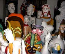 La construction de marionnettes géantes à Fábrica de Alegorias Gigantes de Mamulengo Só-Riso (Olinda, État de Pernambouc, Brésil). Photo: Fernando Augusto Gonçalves