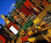 La scénographie amazonienne par Mamulengo Só-Riso (Olinda, État de Pernambouc, Brésil). Photo: Fernando Augusto Gonçalves