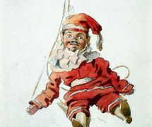Kašpárek del titiritero itinerante checo, Matěj Kopecký (1775-1847), ilustración: Adolf Kašpar (1900). Fotografía cortesía de Archivo de Nina Malíková