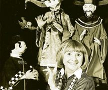 Micheline Legendre with her puppets